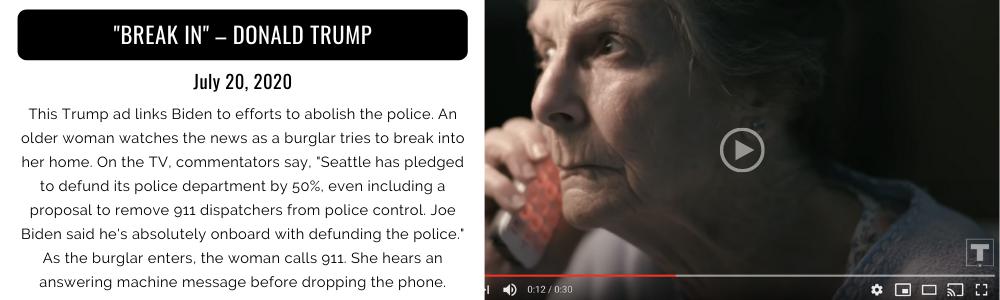 """""""Break In"""" - Donald Trump, campaign ad"""