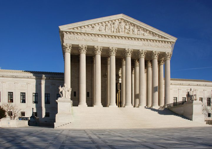 Image of the front of the United States Supreme Court building.