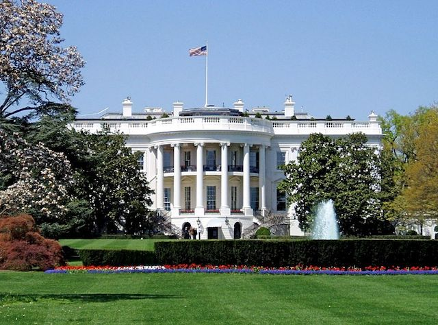 Image of the south facade of the White House.