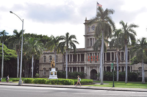 Image of the Hawaii Supreme Court building in Honolulu.